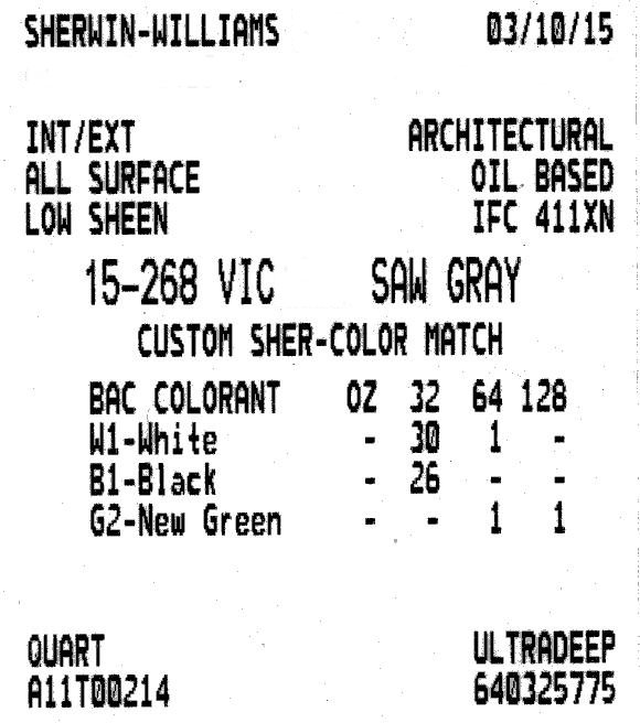 Sherwin-Williams 1946 Delta Gray color match (has slight bluish hue)